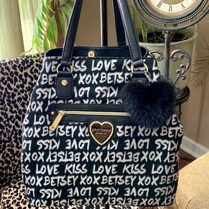 Betsey Johnson Black & Silver Tote